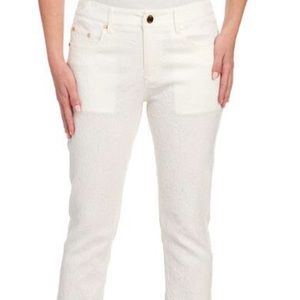 Eric Jenny Abstract 5 Pocket Skinny Jeans In white